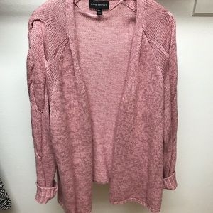 Lane Bryant Pink Knot Sweater Cardigan sz 18/20